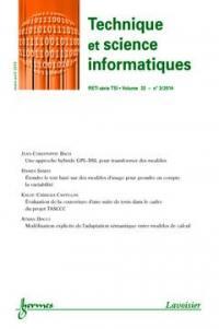 Technique et science informatiques. n° 3 (2014),