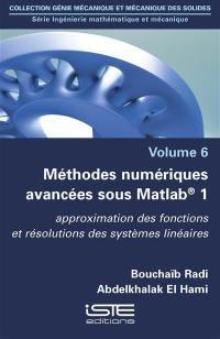 Méthodes numériques avancées sous Matlab 1