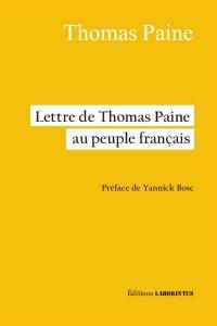 Lettre de Thomas Paine au peuple français