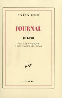 Journal. Volume 2, 1919-1941