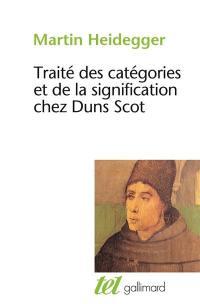Traité des catégories et de la signification chez Duns Scot
