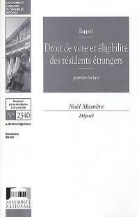 Droit de vote et éligibilité des résidents étrangers
