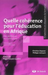 Quelle cohérence pour l'éducation en Afrique