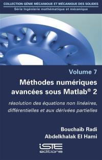 Méthodes numériques avancées sous Matlab 2