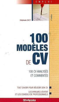 100 modèles de CV