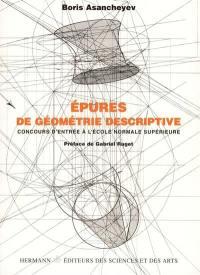 Epures de géométrie descriptive