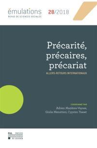 Emulations. n° 28, Précarité, précaires, précariat