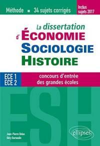 La dissertation d'économie, sociologie, histoire