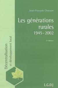 Les générations rurales 1945-2002
