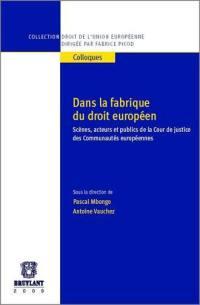Dans la fabrique du droit européen
