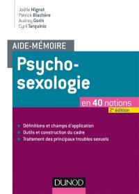 Aide-mémoire psychosexologie