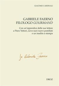 Gabriele Faerno filologo gourmand