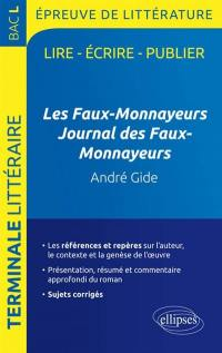 Les faux-monnayeurs, Journal des faux-monnayeurs, André Gide