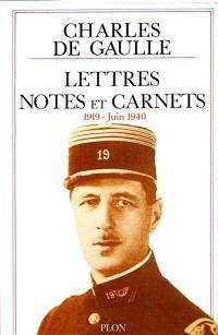 Lettres, notes et carnets. Volume 2, 1919-juin 1940