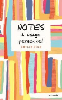 Notes à usage personnel