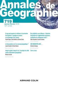 Annales de géographie. n° 719,
