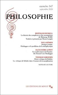 Philosophie. n° 147,