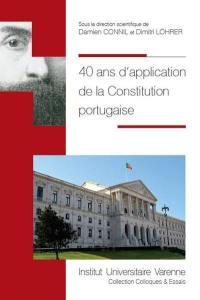 40 ans d'application de la Constitution portugaise