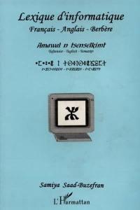 Lexique d'informatique français, anglais, berbère
