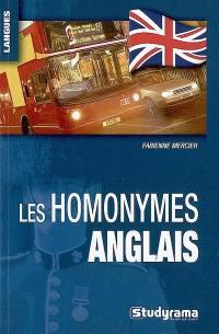 Les homonymes anglais