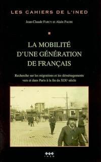 La mobilité d'une génération de Français
