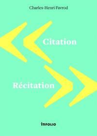 Citation, récitation