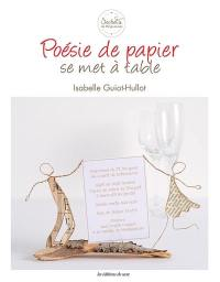Poésie de papier se met à table