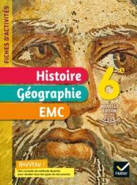Histoire géographie, EMC 6e : fiches d'activités