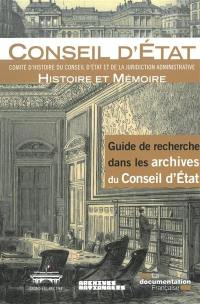 Guide de recherche dans les archives du Conseil d'Etat