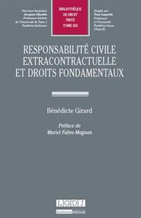Responsabilité civile extracontractuelle et droits fondamentaux