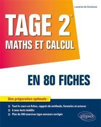 Tage 2 maths et calcul en 80 fiches