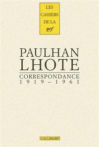 Correspondance : 1919-1961