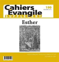 Cahiers Evangile, supplément. n° 190, Esther
