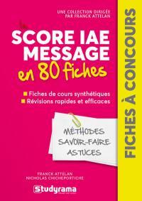 Score IAE Message  en 80 fiches