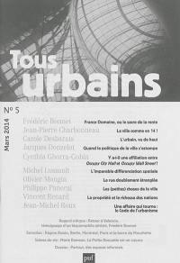 Tous urbains. n° 5 (2014),