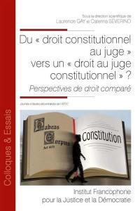 Du droit constitutionnel au juge vers un droit au juge constitutionnel ?