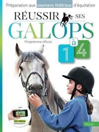 Préparation aux examens fédéraux d'équitation, Réussir ses galops 1 à 4