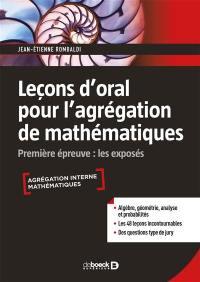 Leçons d'oral pour l'agrégation de mathématiques