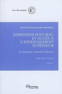 Admission post-bac et accès à l'enseignement supérieur
