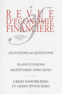 Revue d'économie financière. n° 110,