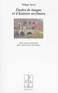 Etudes de langue et d'histoire occitanes