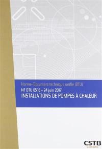 Installations de pompes à chaleur : NF DTU 65.16