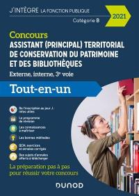 Concours assistant (principal) territorial de conservation du patrimoine et des bibliothèques