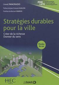 Stratégies durables pour la ville