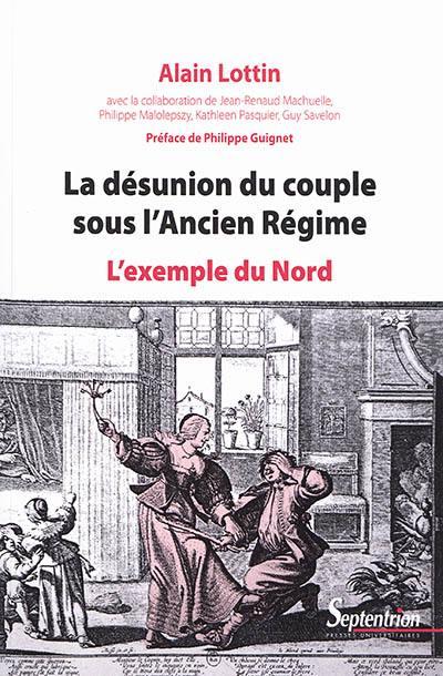 La désunion du couple sous l'Ancien Régime