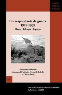 Correspondants de guerre 1918-1939