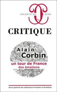 Critique. n° 865-866, Alain Corbin