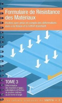 Formulaire de résistance de matériaux. Volume 3, Détermination des réactions d'appui, sollicitations et flèches de poutres cintrées ou en forme d'angle