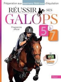 Préparation aux examens fédéraux d'équitation, Réussir ses galops 5 à 7