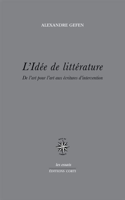L'idée de littérature